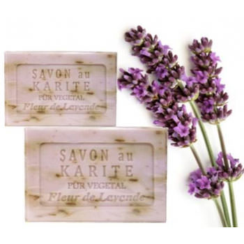Lavendel Shea Butter Seife, hell
