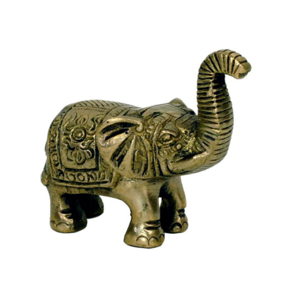 Elefant aus Messing, 7 cm